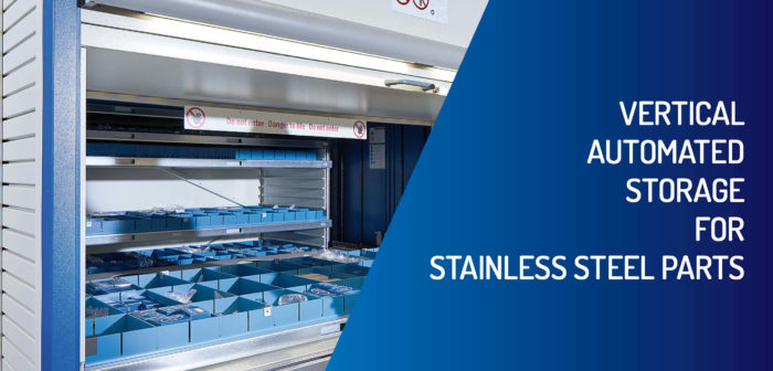 Vertical Automated Storage For Stainless Steel Parts