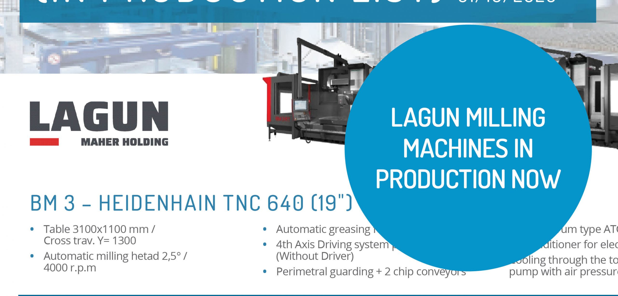 Lagun Milling Machines In Production